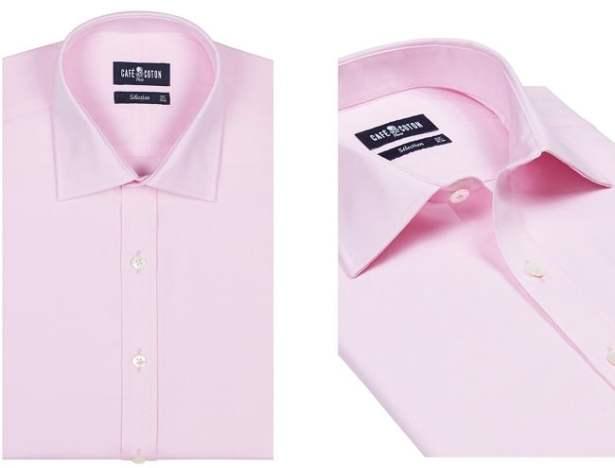 chemise-coton-homme-petit-prix-rose