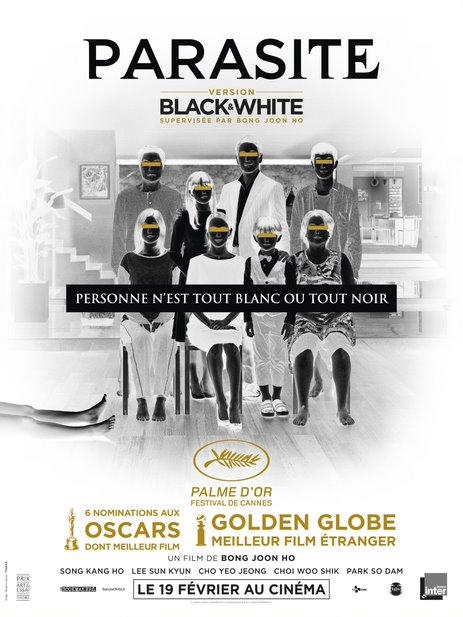 Parasite le film en noir et blanc
