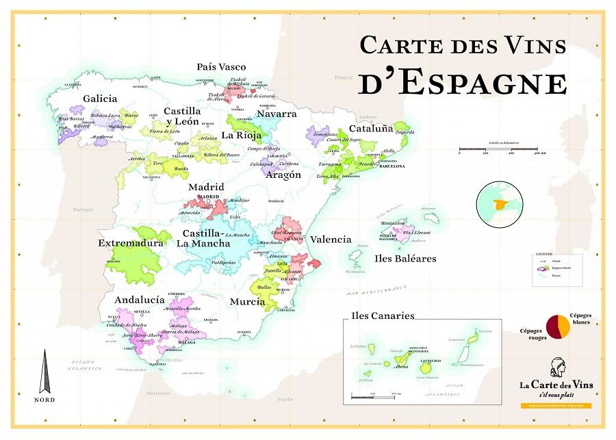 carte des vins espagnols