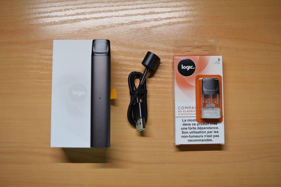 Coffret E-cigarette Logic Compact + pack de 2 pods
