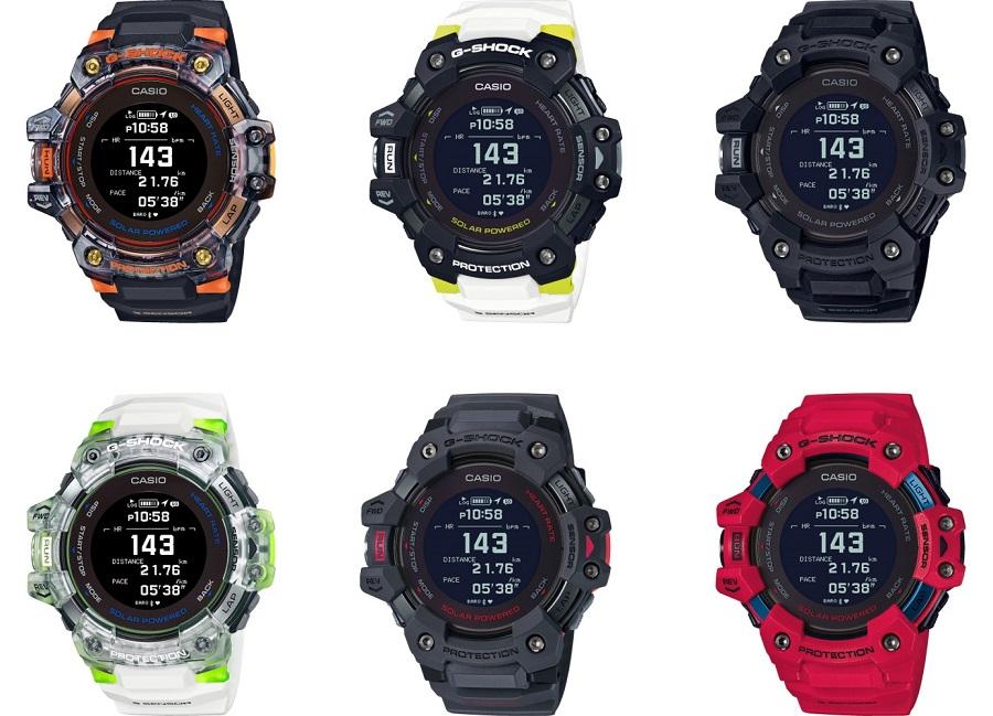 6 modèles de montres G-SQUAD de G-SHOCK