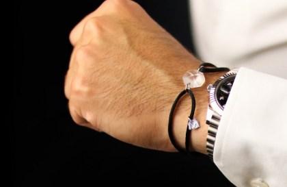 bracelet en cristal pour homme