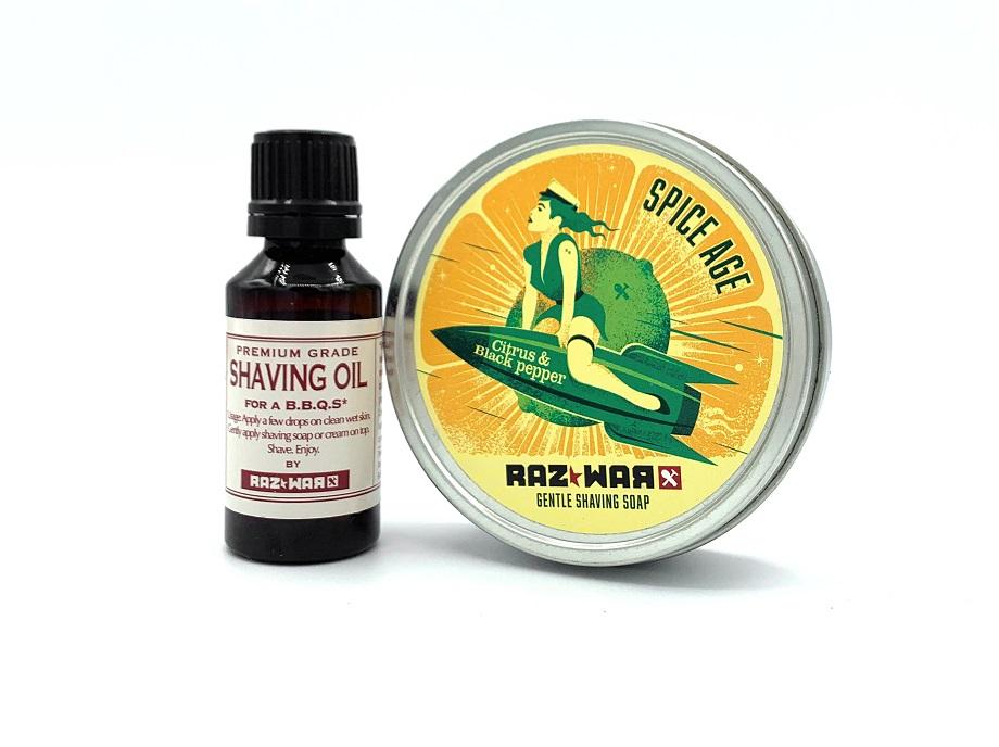 L'huile et savon de rasage : une combinaison parfaite pour un rasage idéal.