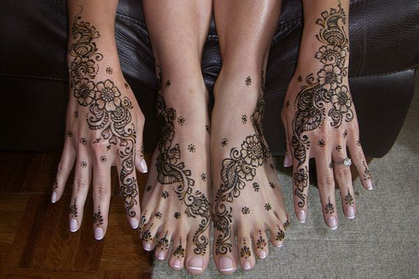 Girl Henna Tattoo