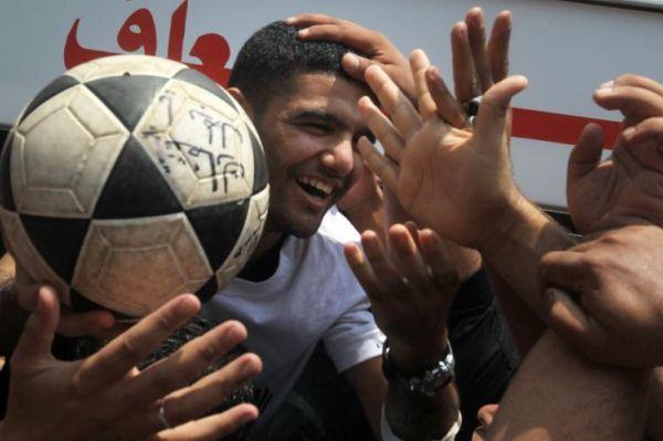 Palestinian footballer Mahmoud Sarsak