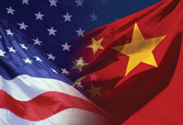 US China flags