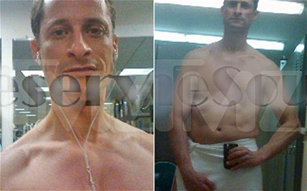 Nude Posing of Anthony Weiner at Congressional Gym