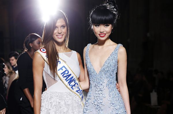 Jessica Minh Anh and Miss France Iris Mittenaere