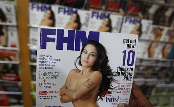 Actress Veena Malik poses nude for FHM Indian Magazine