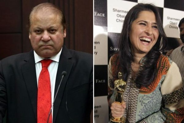 Nawaz Sharif and Sharmeen Obaid Chinoy