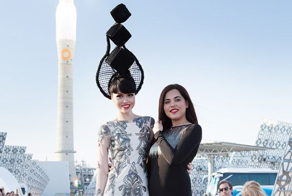 Jessica Minh Anh and Syeda Amera at Gemasolar, Spain