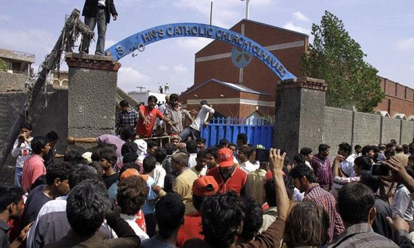 Youhanabad church blast protest