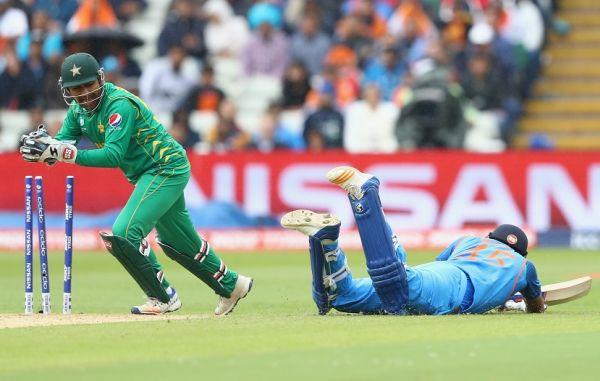 "Rohit Sharma was declared ""bouncing bat"" run out"