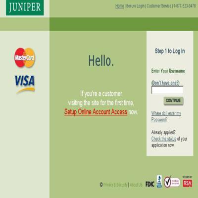 Juniper-Visa-Card-Account-Access