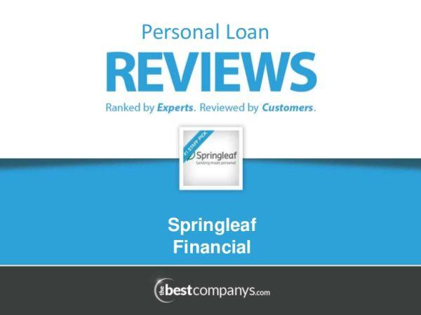Springleaf personal loans