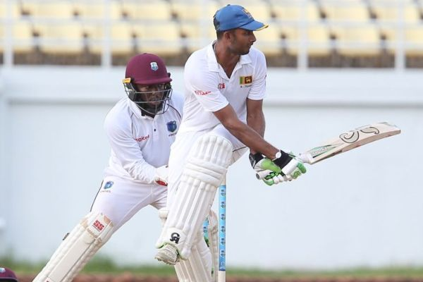 Dasun Shanaka swipes one into the leg side en route to his century