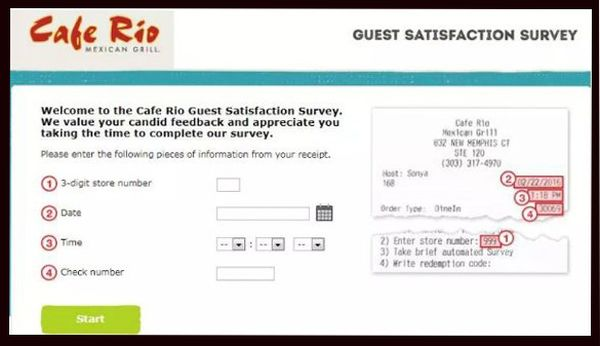 Cafe Rio survey