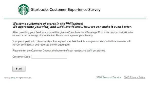Starbucks Customer Survey