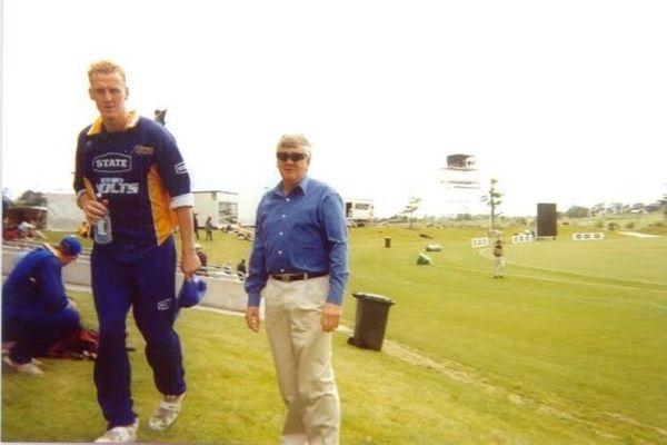 Kerry Walmsley and Coach Glenn Turner