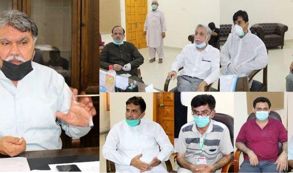 Dr. Muzaffar Ali Kalhoro presiding joint meeting