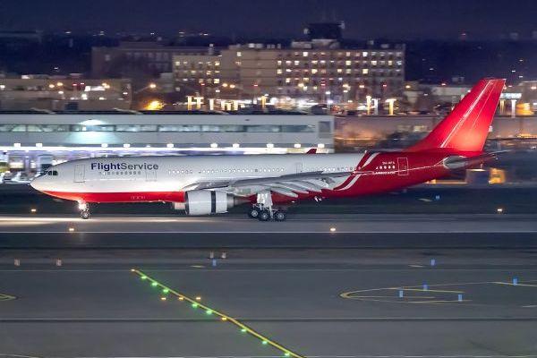 AELF FlightService A330 at JFK in November.