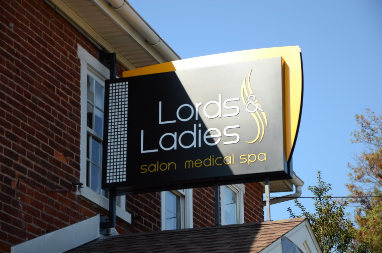 Lords  Ladies Salon  Spa  LH Sign Company Philadelphia PA