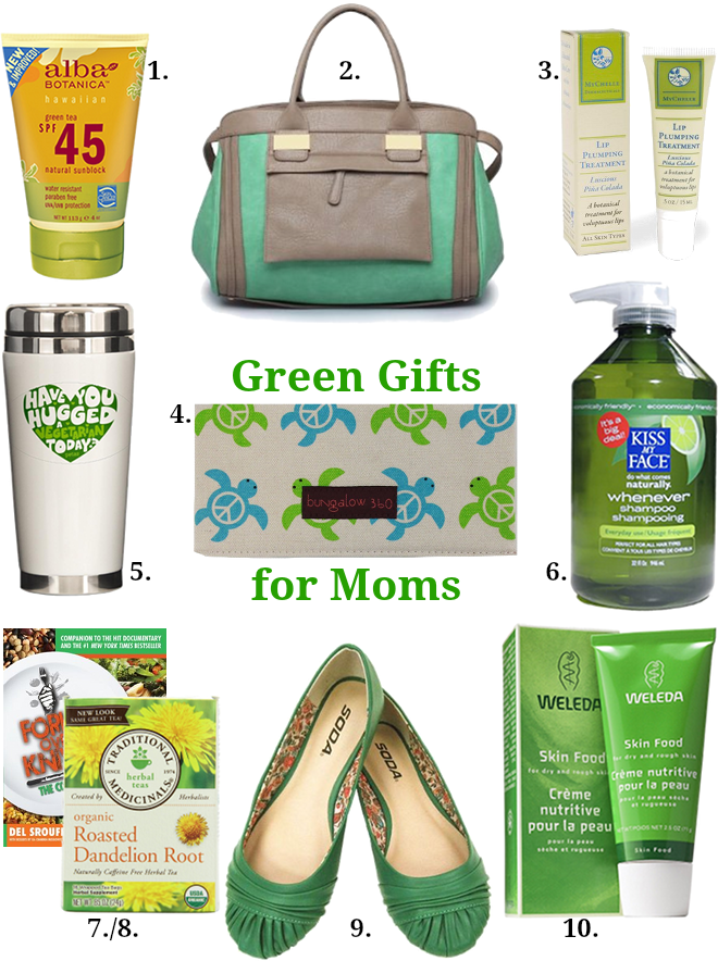 Mother's Day green gift ideas: For moms who are practicing green living