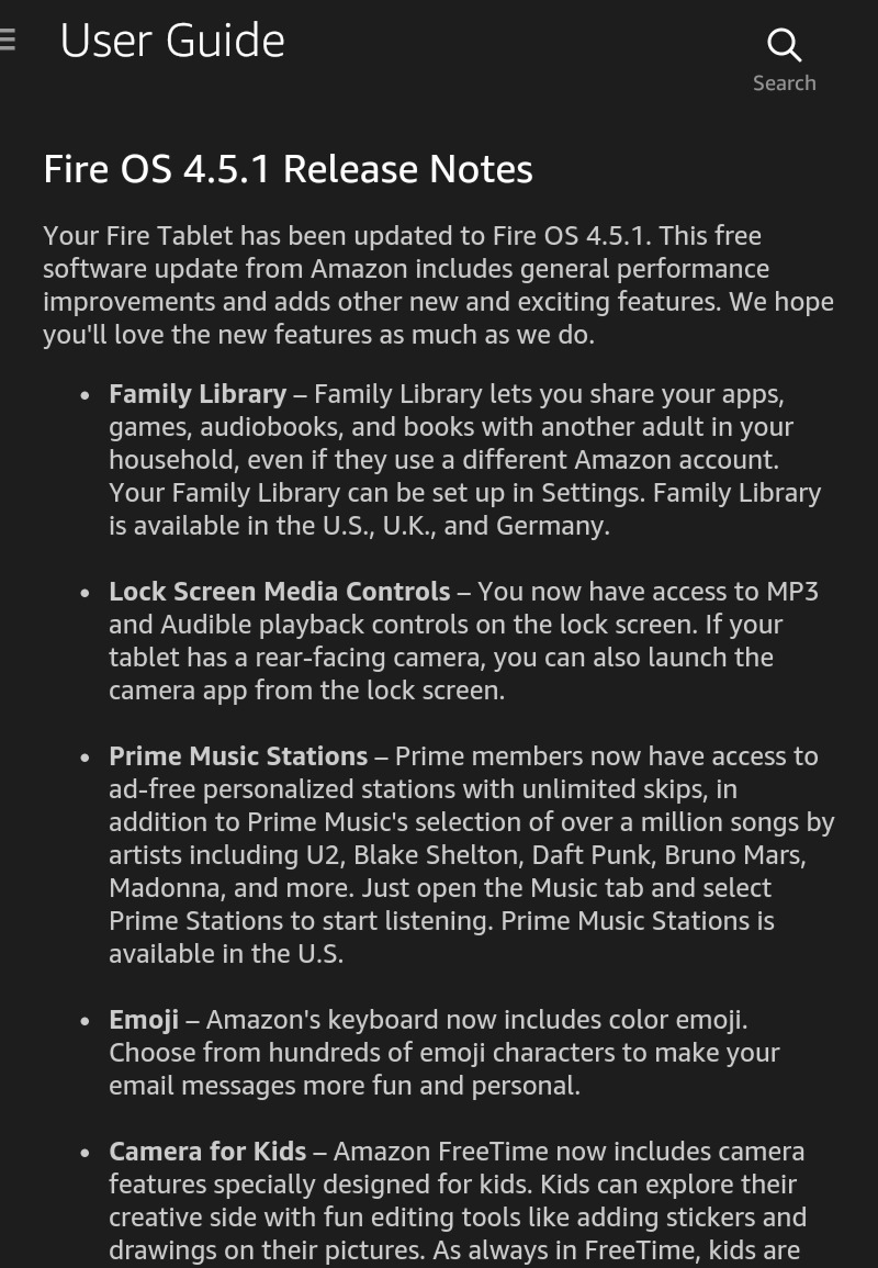 How to automatically download and install software updates on your Kindle Fire - Release Notes