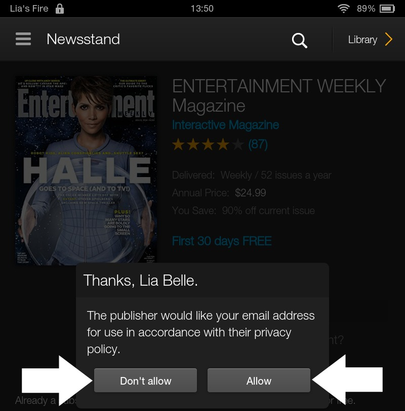 How to subscribe to Interactive Kindle Magazines on your Kindle Fire