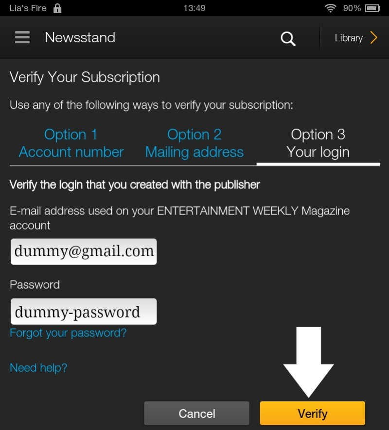 How to subscribe to Interactive Kindle Magazines on your Kindle Fire - option subscriptions