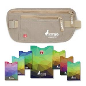 Alpha Keeper Money Belt For Travel With RFID Blocking Sleeves Set