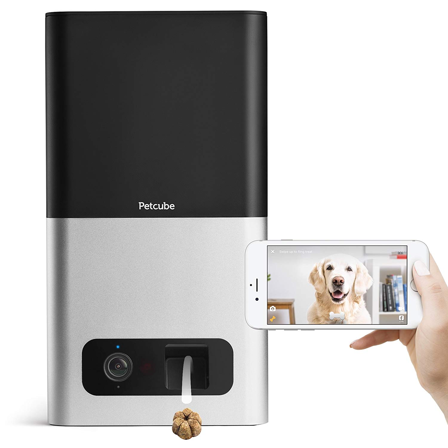 Petcube Bites Pet Camera with Treat Dispenser for Dogs & Cats