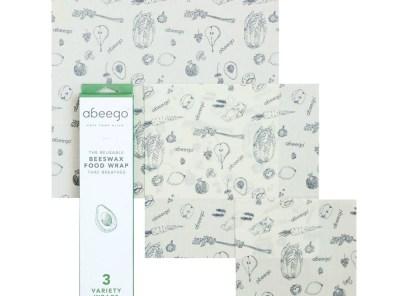 Abeego's Original Beeswax Food Storage Wrap - Set of 3