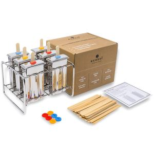 Ecozoi Eco-Safe Stainless Steel Popsicle Molds and Rack