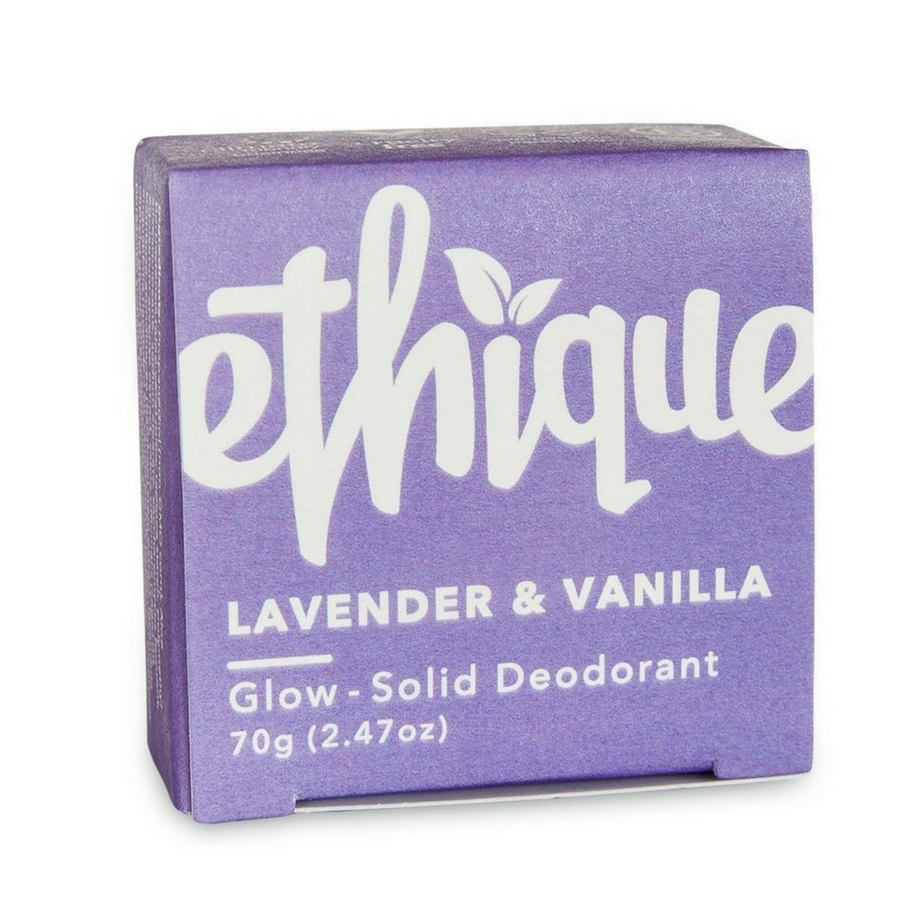 Ethique Eco-Friendly Glow-Solid Deodorant - Lavender & Vanilla 2.47 oz