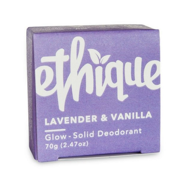 Ethique Eco-Friendly Glow-Solid Deodorant - Lavender & Vanilla 2.47 oz