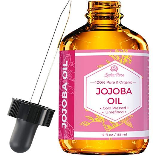 Leven Rose Pure Cold Pressed Natural Unrefined Jojoba Oil - 4 oz