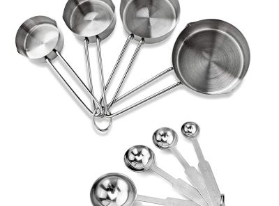 New Star Foodservice Stainless Steel Measuring Spoons and Cups - Set of 8