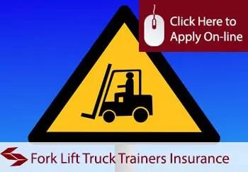 fork lift truck trainers public liability insurance
