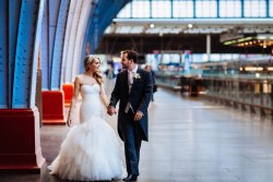 wedding photography at st pancras station london