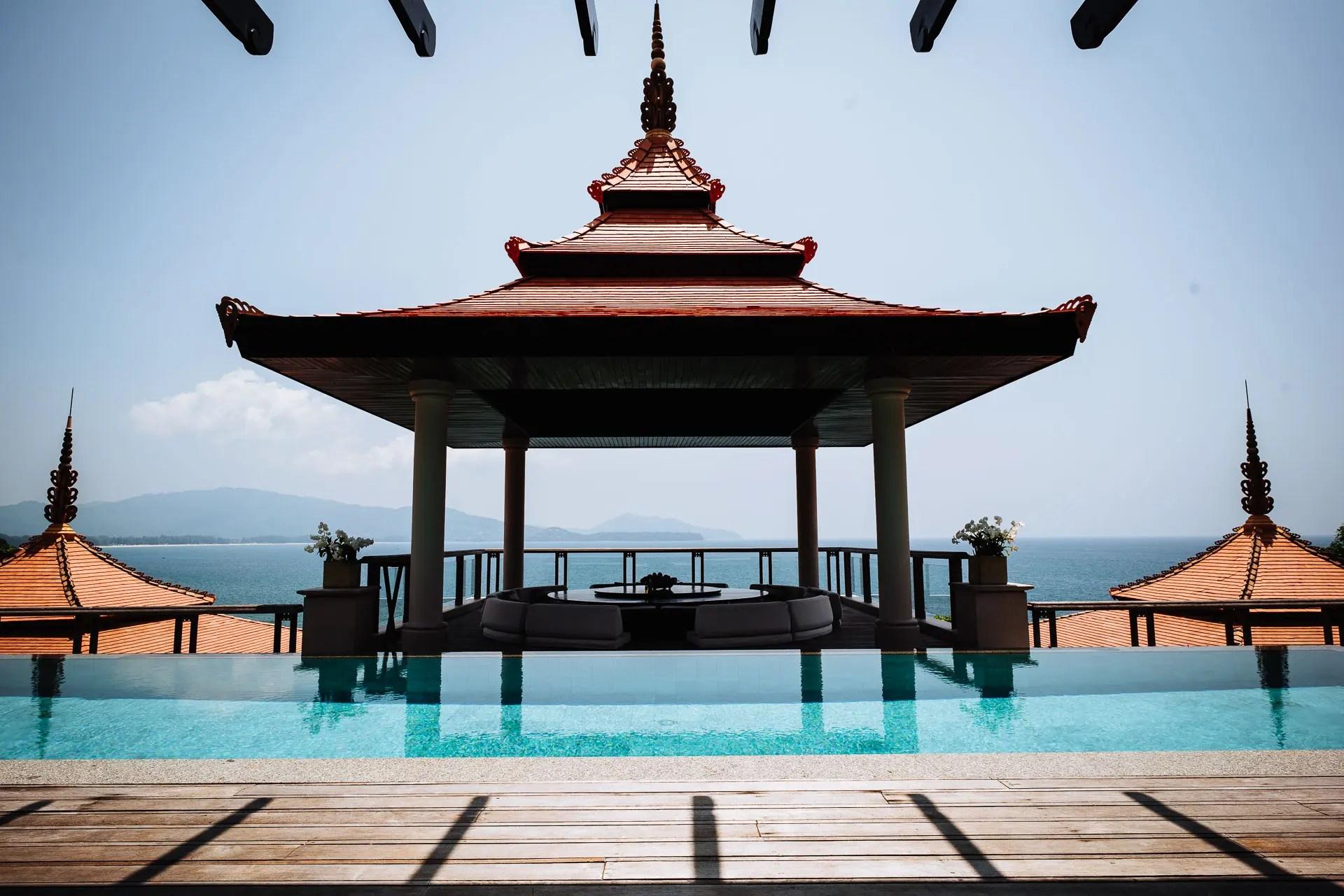 View of infinity pool and ocean Trisara Venue