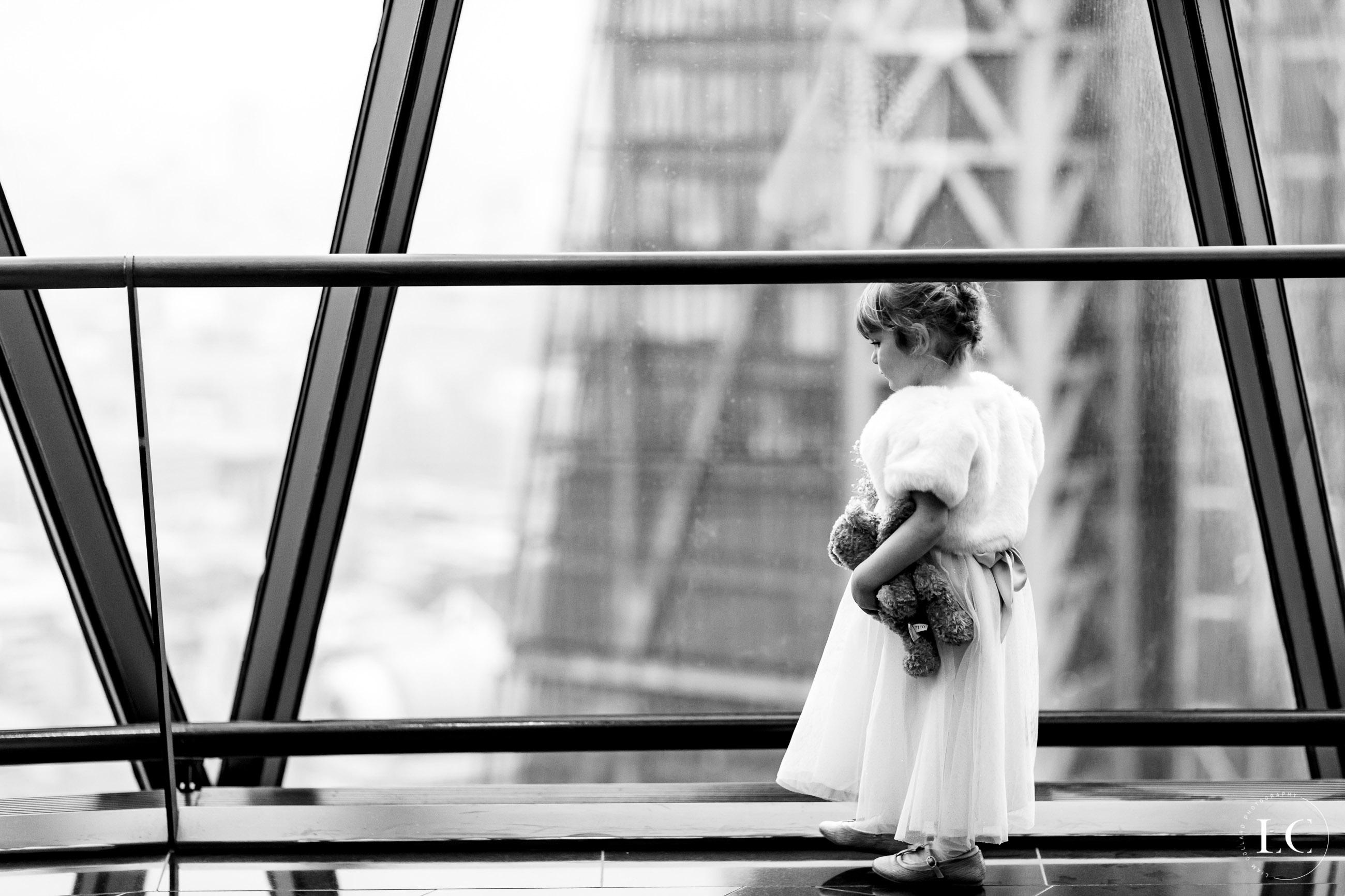 Child next to window