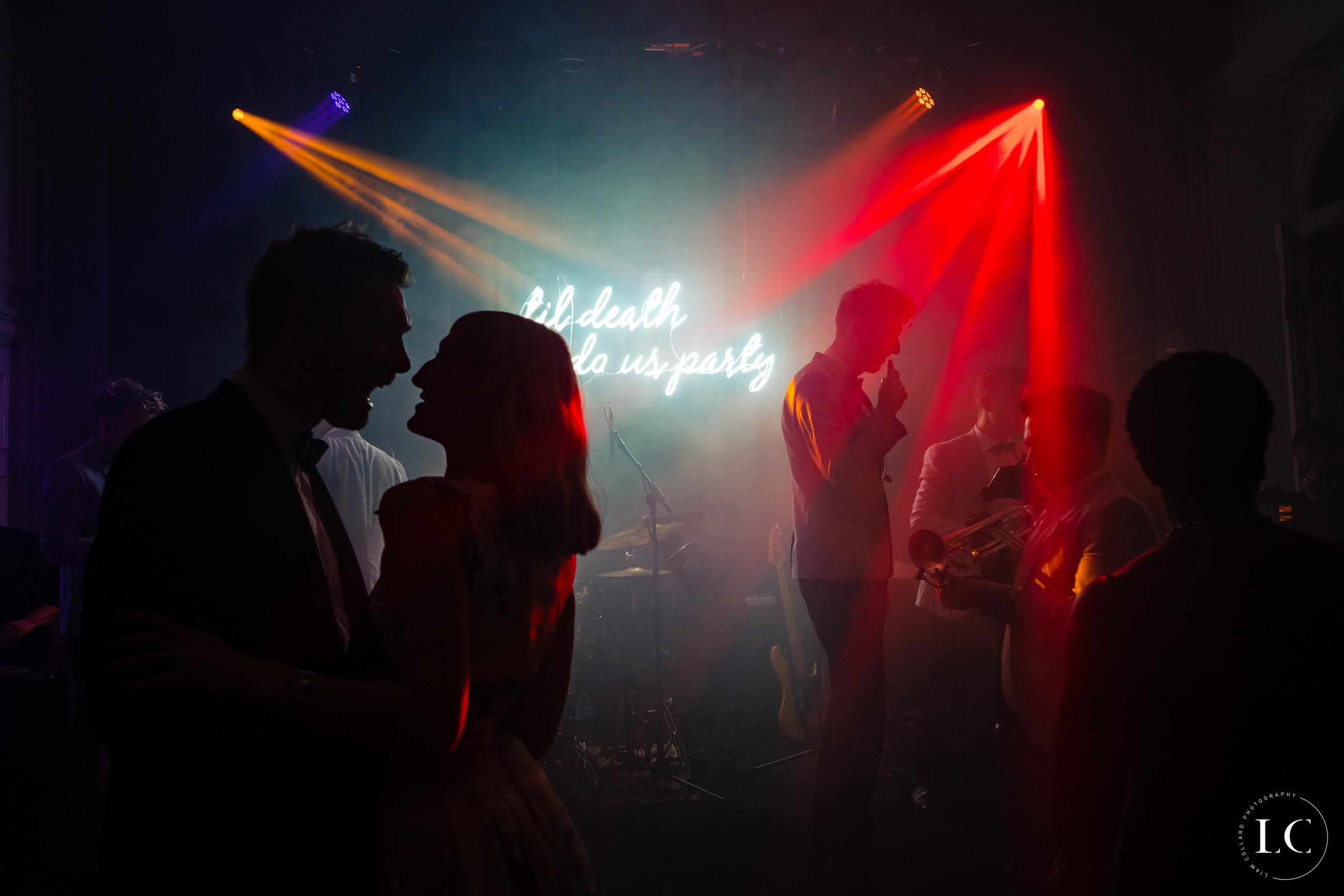 Guests dancing shadows