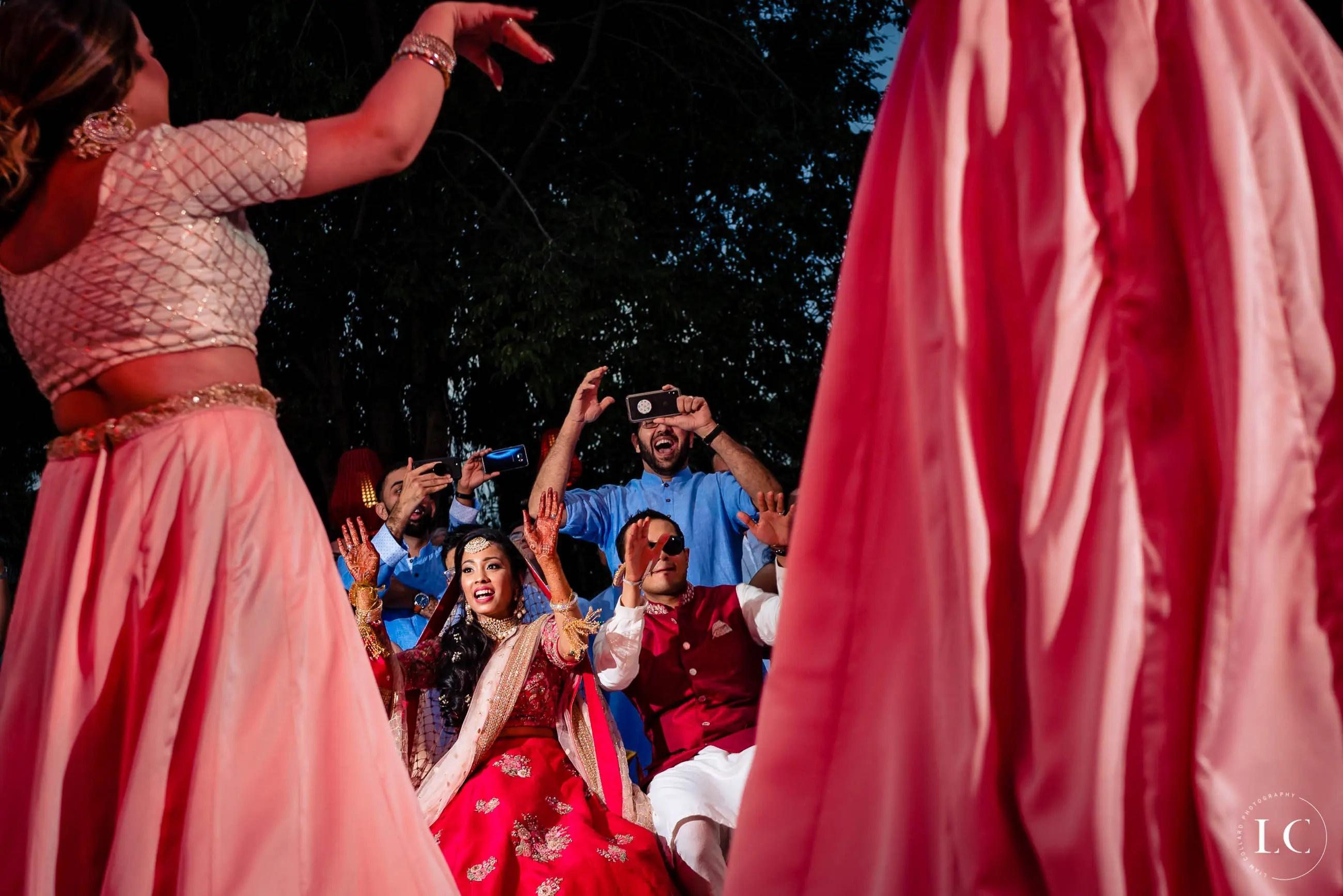 Indian dancers at wedding