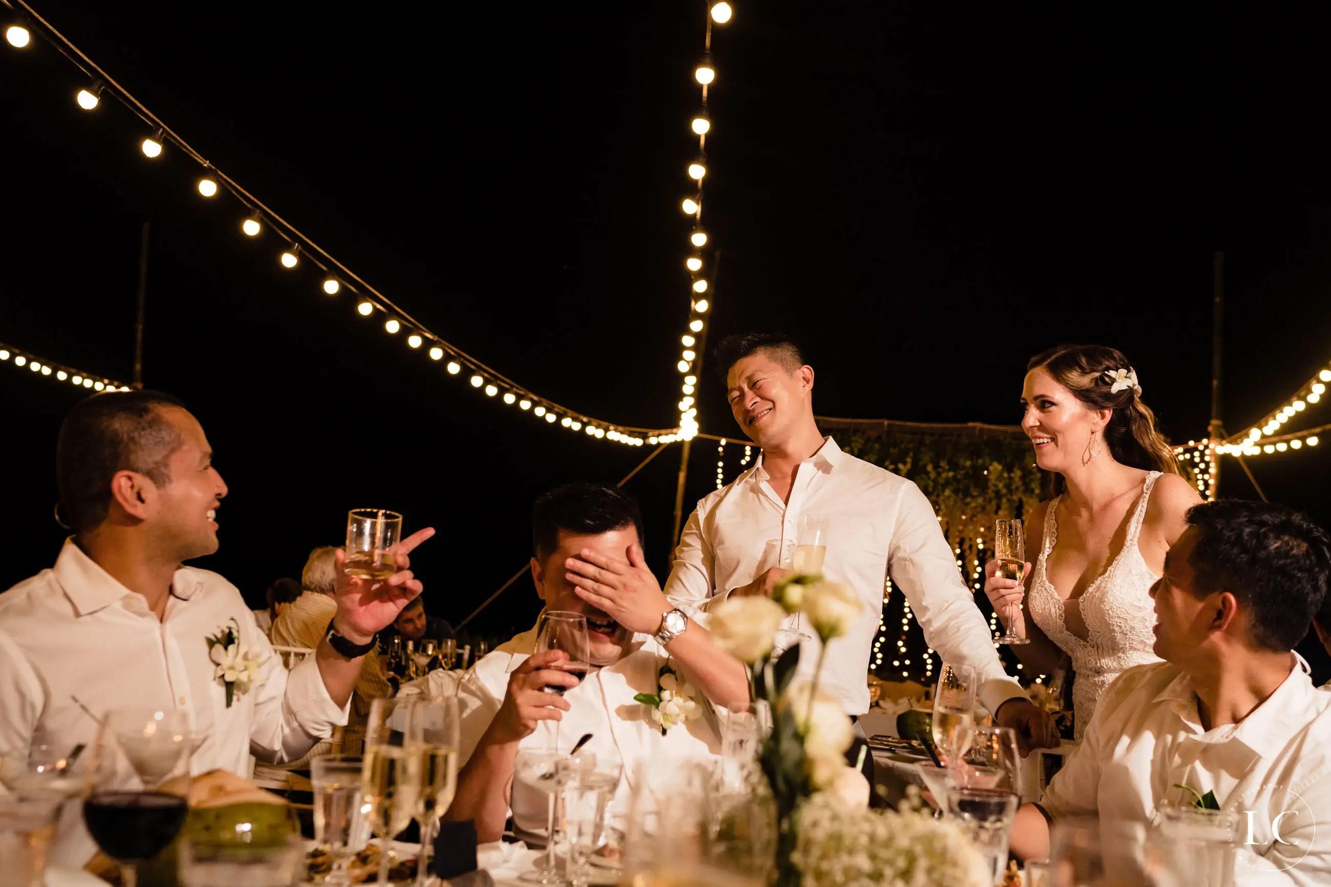 groomsmen doing a toast