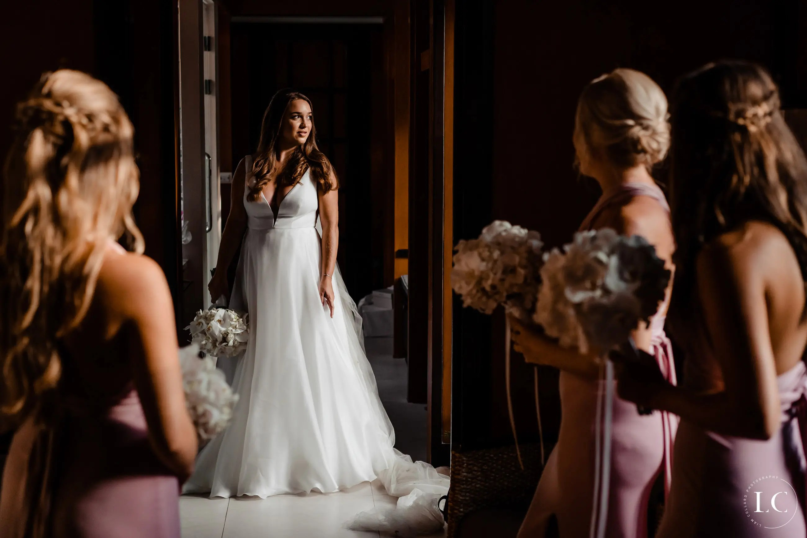bride standing