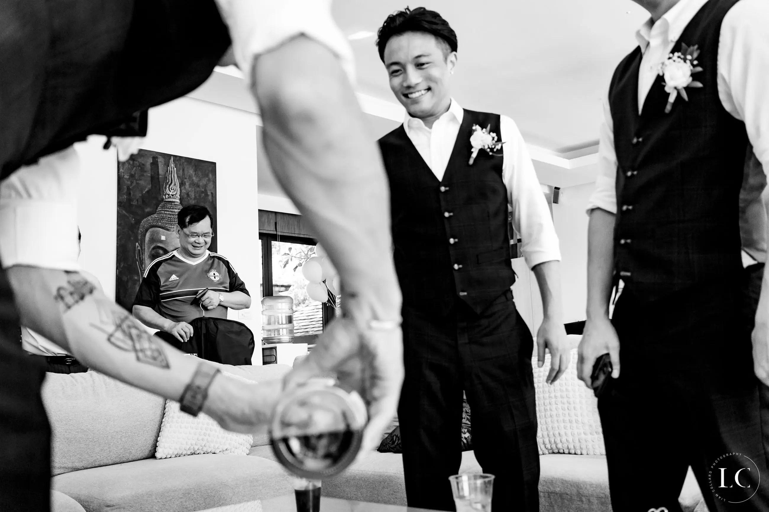 Groomsmen at a wedding