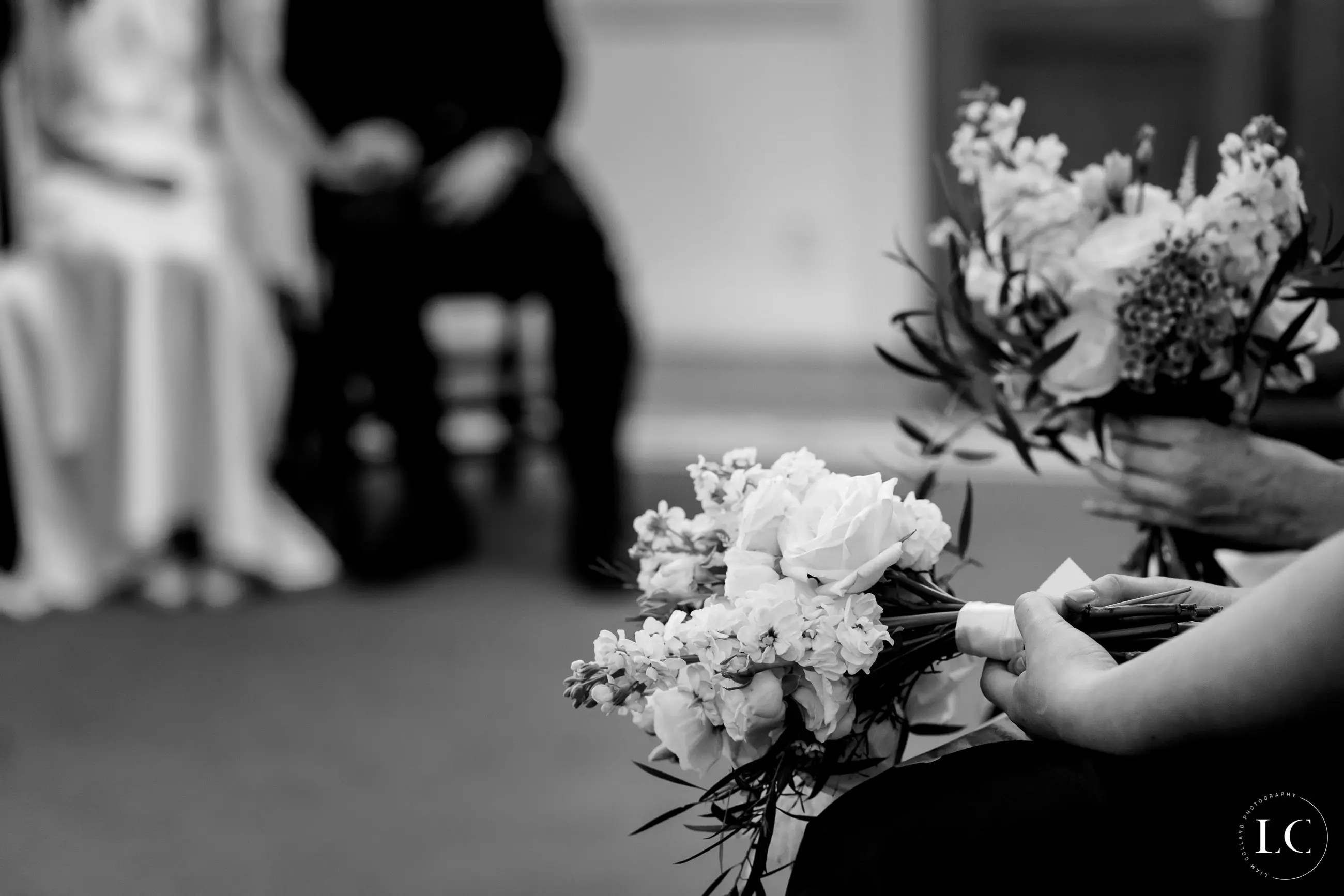 Flowers at a wedding