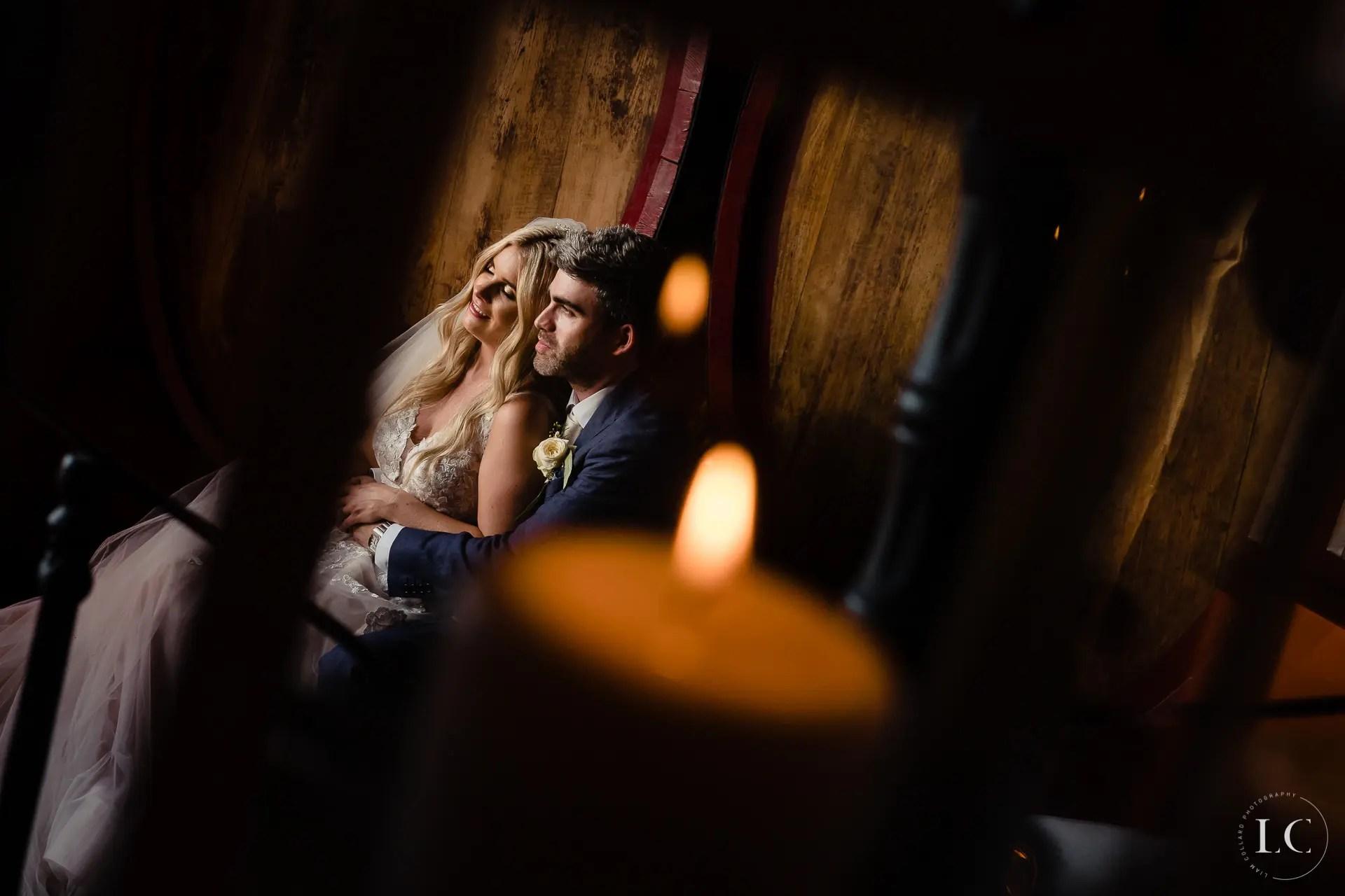 Newly weds embracing