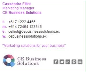 E-Mail with Company URL